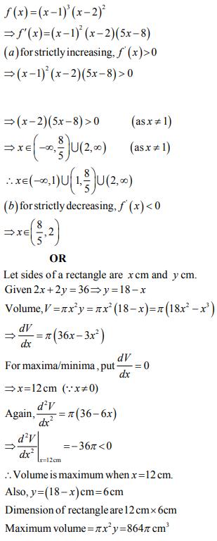 ncert solution class 12th math Answer 34