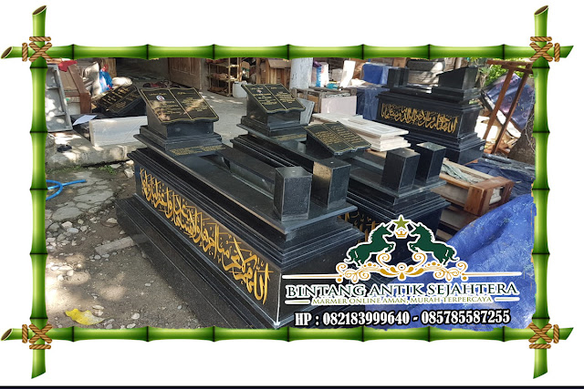 Model Makam Uje Custom | Model Makam Granit Dengan Vas Bunga