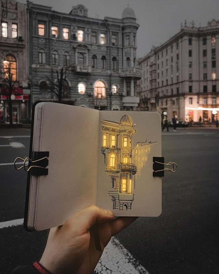 06-Drawing-illuminated-in-real-life-Никита-www-designstack-co