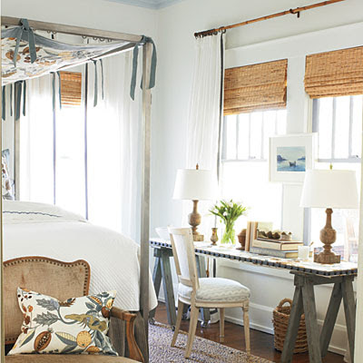 hang mirrors and art over windows  completely coastal