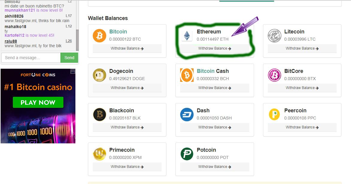 instant paga bitcoin rubinetto