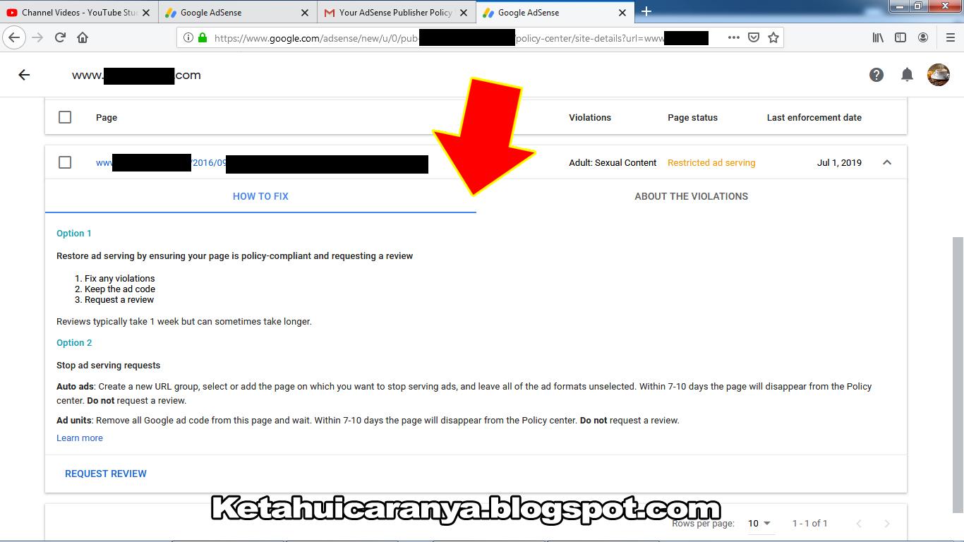 Cara Menyelesaikan Masalah Adsense Publisher Policy Violation Report
