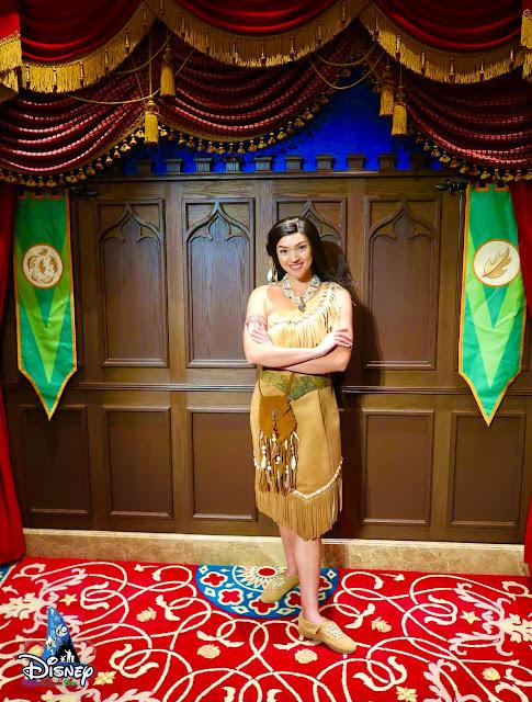 寶嘉康蒂首次在奇妙夢想城堡皇室禮賓庭 現身, Pocahontas meet-and-greet-HKDL-Castle-of-Magical-Dreams-March-10-2021, Hong Kong Disneyland, 香港迪士尼樂園