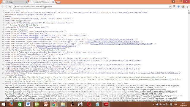 mesin pencari melihat halaman berdasarkan HTML yang dibuat oleh pemilik blog atau website
