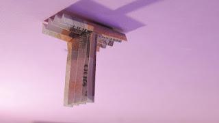 how to make money 3d origami alphabet T tutorials hướng dẫn cách gấp chữ T bằng tiền giấy