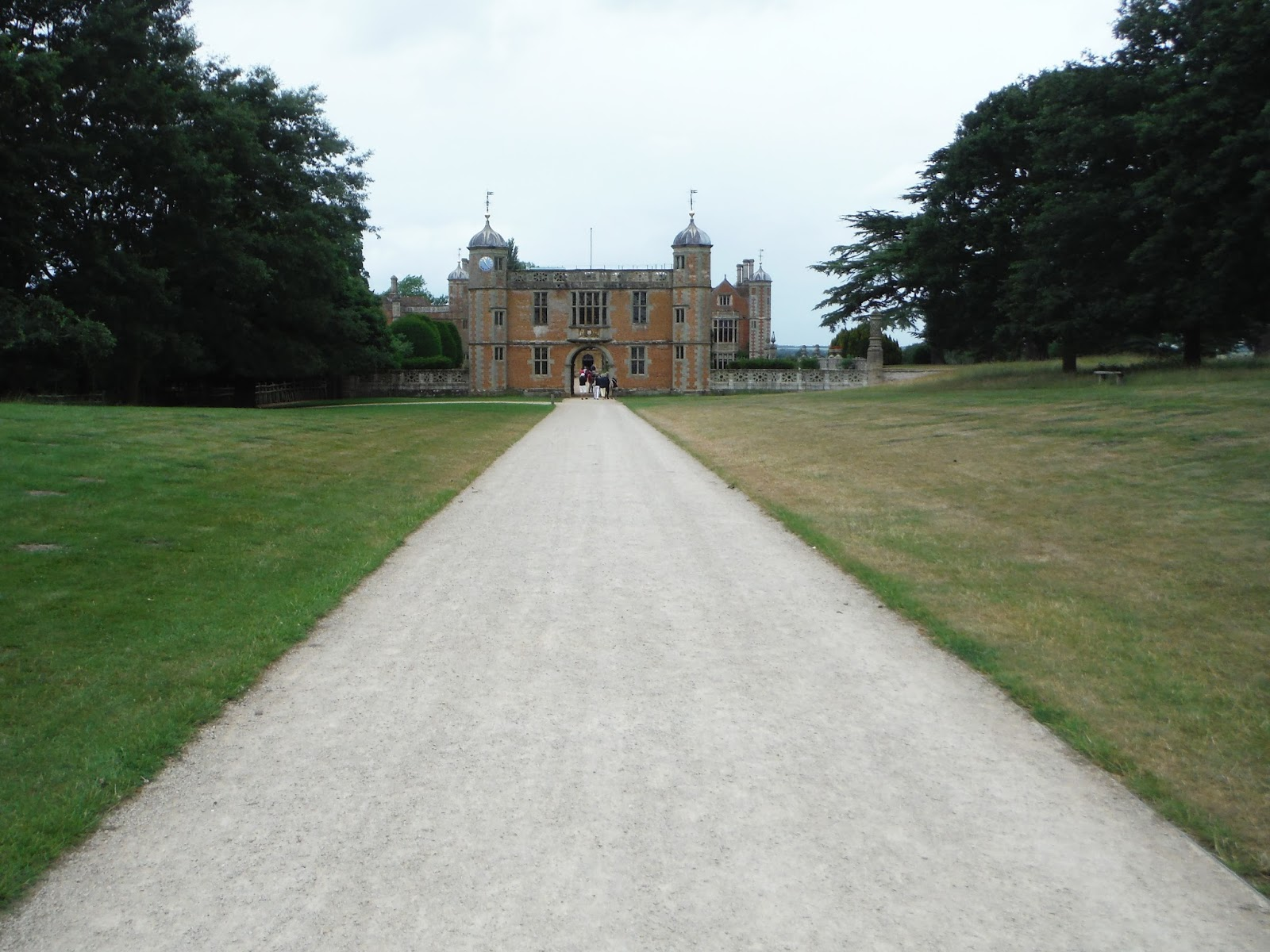 a view of Charlecote Park from the long driveway