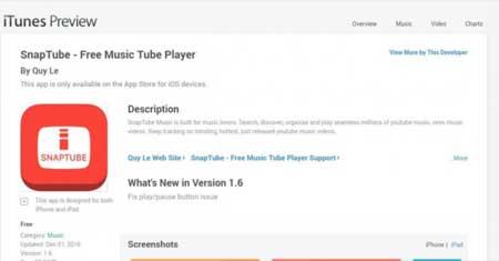 Snaptube iTunes