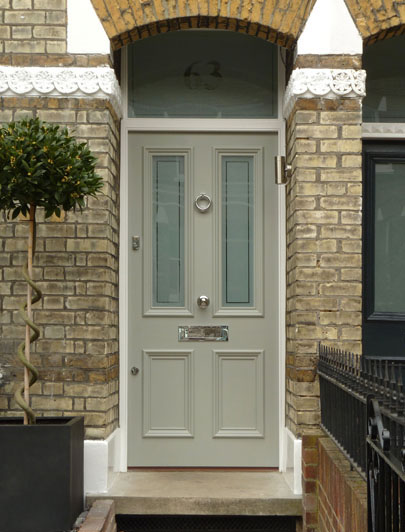 Front Door Painted In Paint And Paper Library Estuary Over On Modern Country Style: How To Pick The Perfect Front Door Paint!