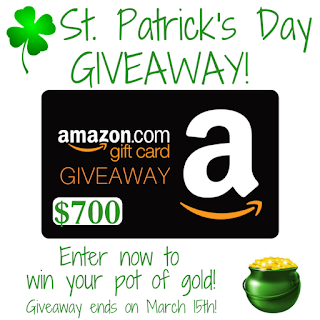St. Patrick's Day Giveaway, ends 3/15