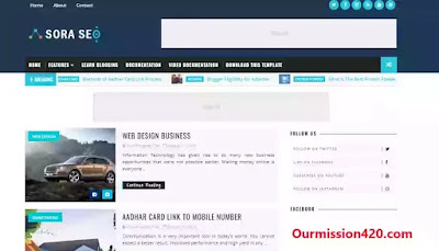 sora best responsive blogger template