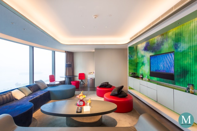 living area of the Fantastic Suite at W Hotel Suzhou China