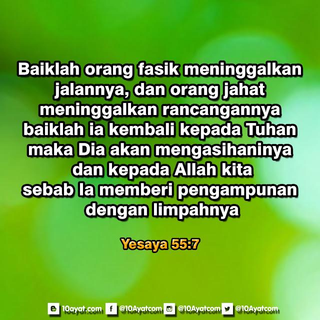 Yesaya 55:7