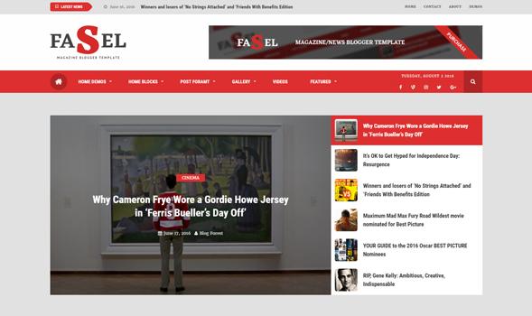 Fasel News Magazine Responsive Blogger Template