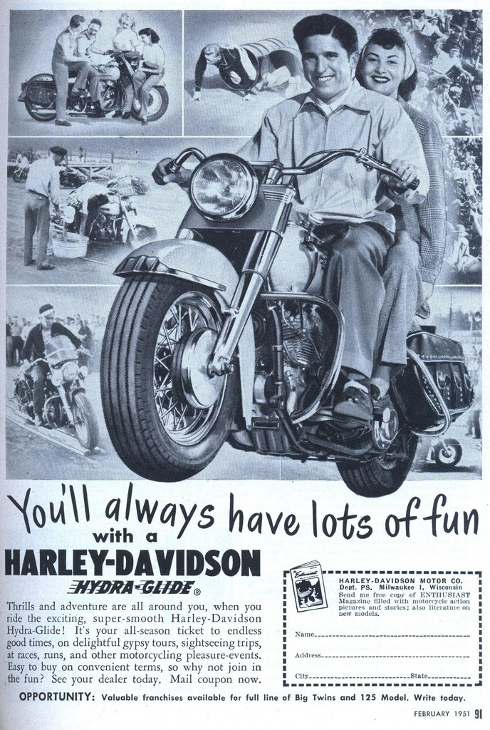 Harley Davidson Advertising: Speedboys: Vintage Harley Davidson Ads