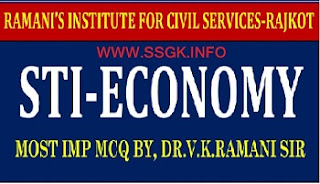 STI ECONOMY 180 IMP MCQ WITH ANSWER BY RAMANI SIR
