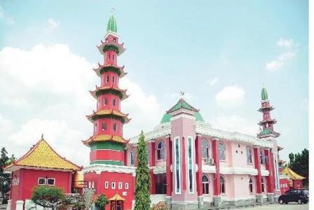 Masjid Cheng Ho Palembang Perpaduan 3 Negara