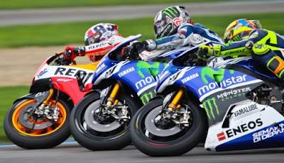 Pertarungan Marquez, Rossi, dan Lorenzo