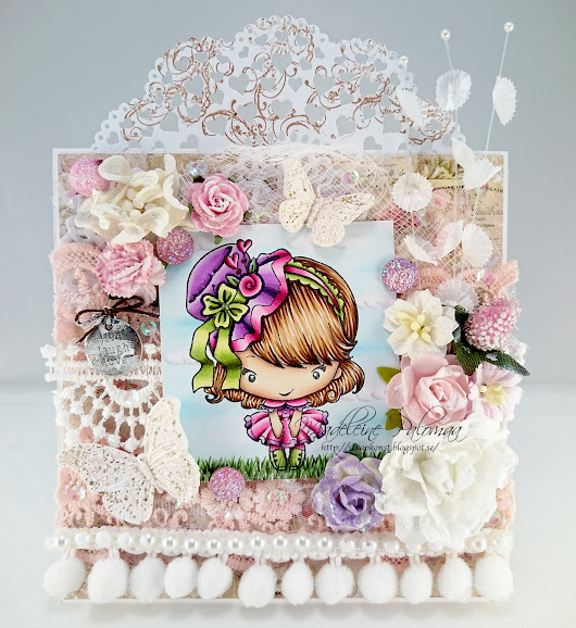 The Greeting Farm Hatter Bean shabby chic card