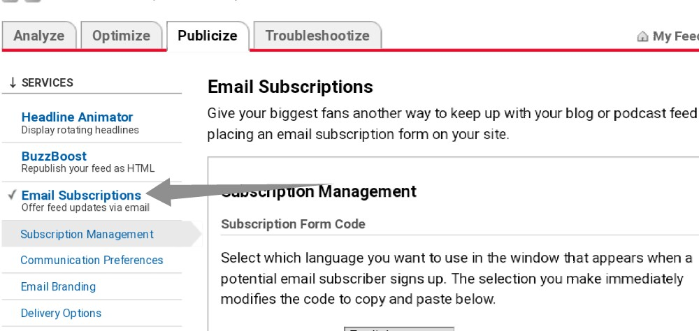 backup FeedBurner subscribers email list step-4
