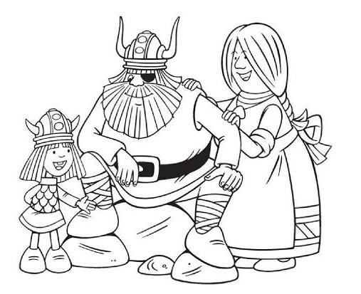 Hobi Kid Vikingler Boyama Sayfasi