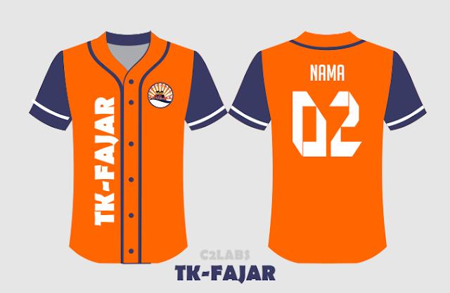 Sablon Kaos Baseball TK Fajar Bahan Combed 24s Premium - Konveksi Baju Baseball