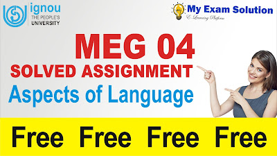 aspects of language, aspects of language free assignment, ignou assignment pdf, ignou assignment