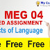 MEG-04 Apects of Language Solved Assignment 2019-2020