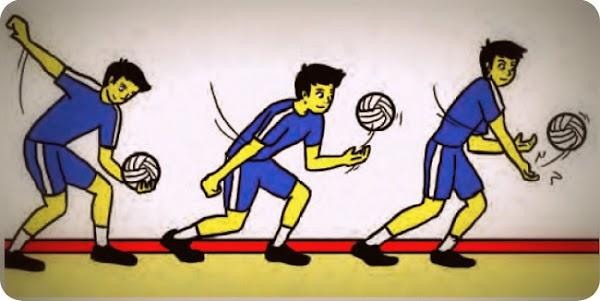 Teknik Dasar Permainan Bola Voli (Service, Passing, Smash, Blocking)
