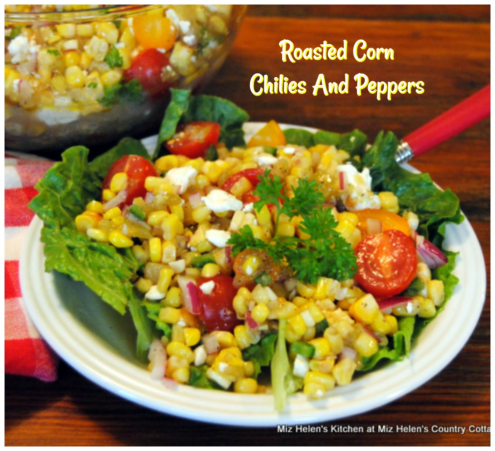 Roasted Corn Chilies and Peppers