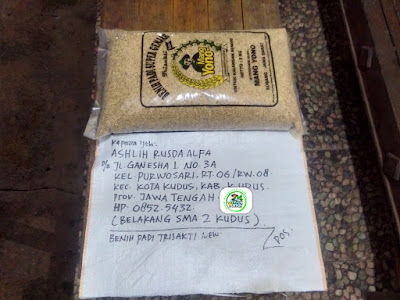 Benih padi yang dibeli  ASHLIH RUSDA ALFA Kudus, Jateng.  (Sebelum packing karung).