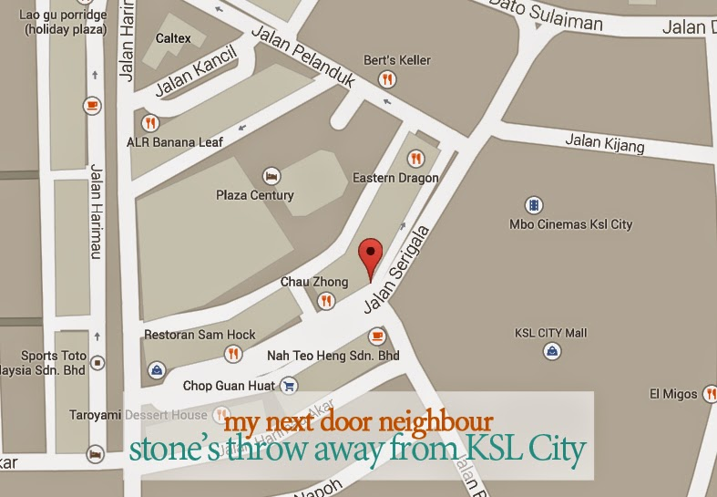 My Next Door Neighbour: Stone's Throw Away From KSL City Jalan Serigala