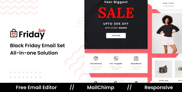 Best Responsive Email Template For Black Friday