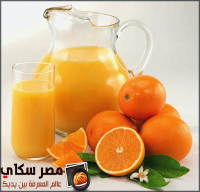 عصير البرتقال وفوائده فى انقاص الوزن Orange juice