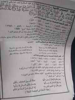 امتحان اللغة العربية محافظة القاهرة للصف الثالث الاعدادى الترم الثاني 2016