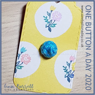 One Button a Day 2020 by Gina Barrett - Day 110 : Woven Ball