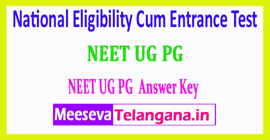 NEET 2018 Answer Key National Eligibility Cum Entrance Test 2018 Answer Key Download