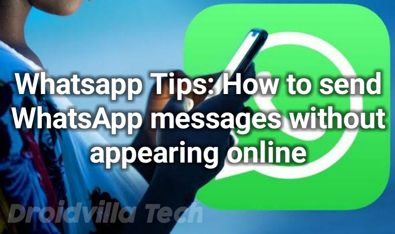 Whatsapp message appearing online