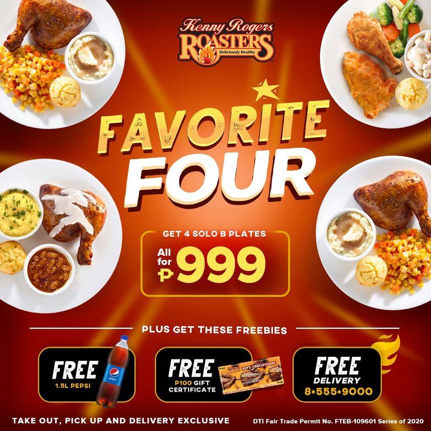 Manila Shopper Kenny Rogers Favorite Four Bundle Promo