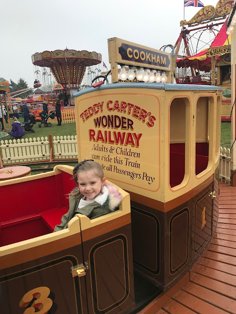 My niece enjoying the Carters Railway Train Ride.