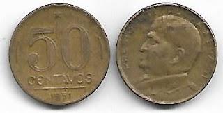 50 centavos, 1951