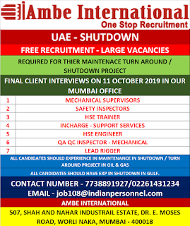 Shutdown Free Recruitment for UAE