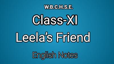 WB CLASS XI ENGLISH NOTES