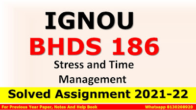 BPAS 186 Solved Assignment 2021-22