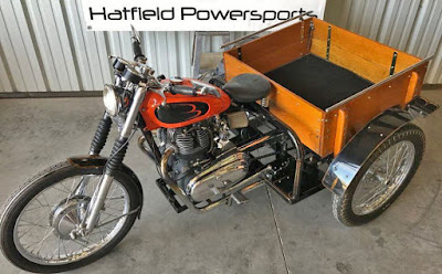 Custom Indian Patrol Car with Royal Enfield Interceptor motor.