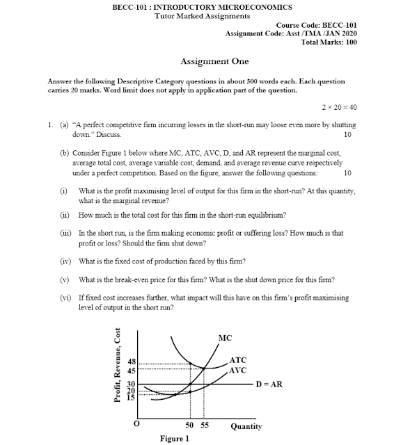 IGNOU BECC-101; IGNOU BECC-101 Solved Assignment 2020
