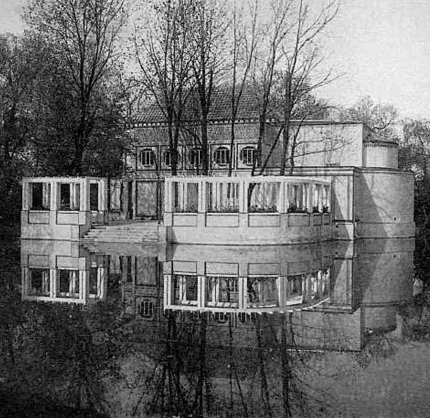 Peter Behrens architecture, a 1907 Tonhaus photograph