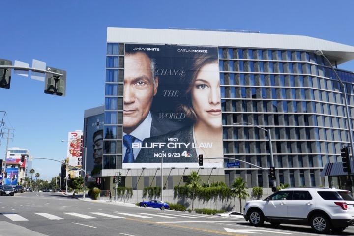 Giant Bluff City Law NBC series billboard