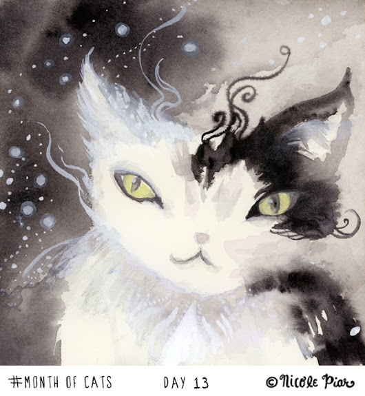ghostkitten: Month of Cats Day 13: Stardust Pawing at the Paradox