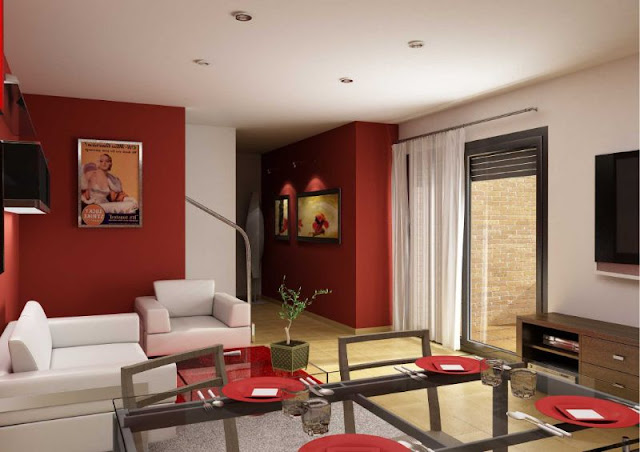Living Room Color Combinations Red - GWJR