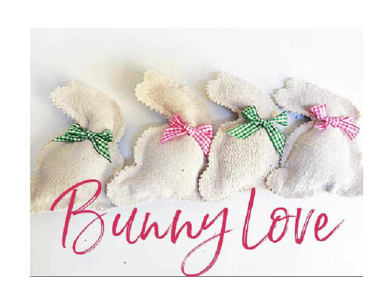 muslin bunnies and overlay